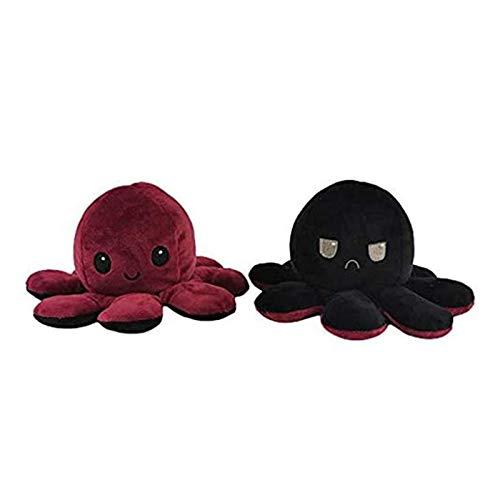 Octopus Plüschtier, Oktupus Stimmungs Kuscheltier, Flip Plüsch Oktopus Spielzeug für Kinder, Kindertagsgeschenk, Geburtstagsgeschenk,...