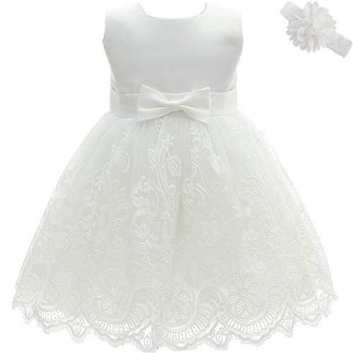 AHAHA Baby Mädchen Prinzessin Kleid Blumenmädchenkleid Taufkleid Festlich Kleid Hochzeit Partykleid Festzug Babybekleidung 6M/6-12monat...