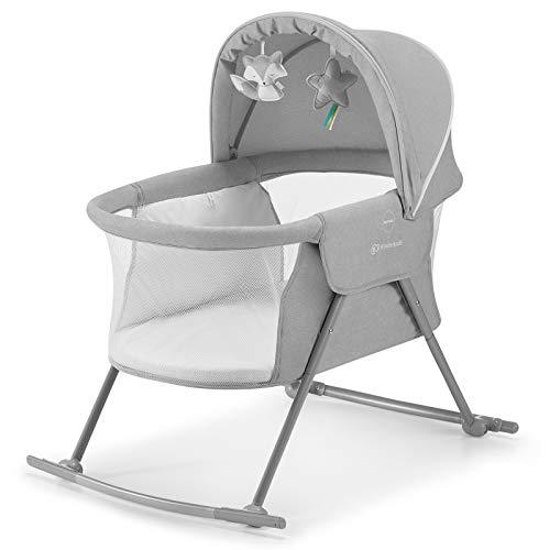 Kinderkraft Kinderbett 3 in 1 LOVI, Kinderreisebett, Stubenwagen, Babywiege, Baby Wippe, Zusammenklappbar, Einfach Transport, mit Zubehör,...