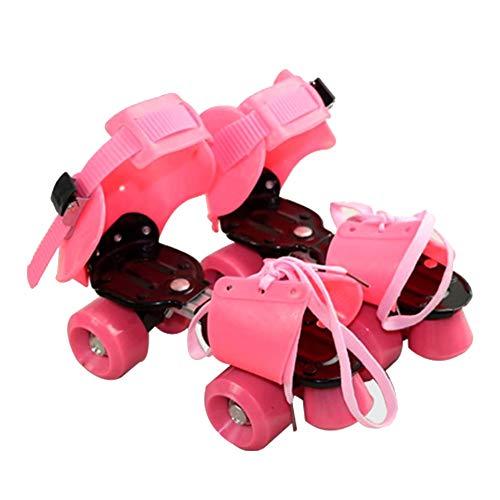 MINGTIAN Verstellbare Kinder Rollschuhe Doppelreihig 4 Räder Skating Schuhe Gleitende Inline Skates für Kinder