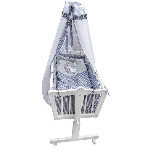 Babywiege Kinderbett Babybett Stubenwagen Beistellbett + 9 tlg. Zubehör