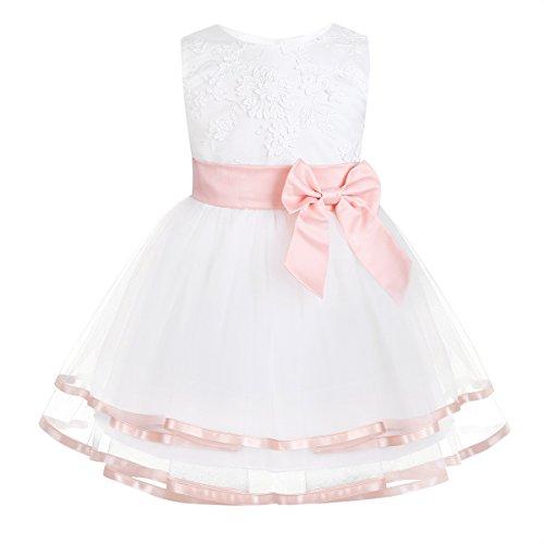 iixpin Babybekleidung Baby-Mädchen Prinzessin Kleid Festzug Taufkleid Hochzeit Partykleid Mädchen Tüll Kleidung Blumenmädchenkleid mit...
