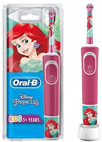 Oral-B Kids Prinzessin Elektrische Zahnbürste für Kinder ab 3 Jahren, kleiner Bürstenkopf & weiche Borsten, 2 Putzprogramme inkl....