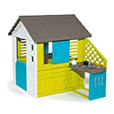 Smoby 810711 – Pretty Haus - Spielhaus für Kinder für drinnen und draußen, mit Küche und Küchenspielzeug (17 teilig), Gartenhaus für...