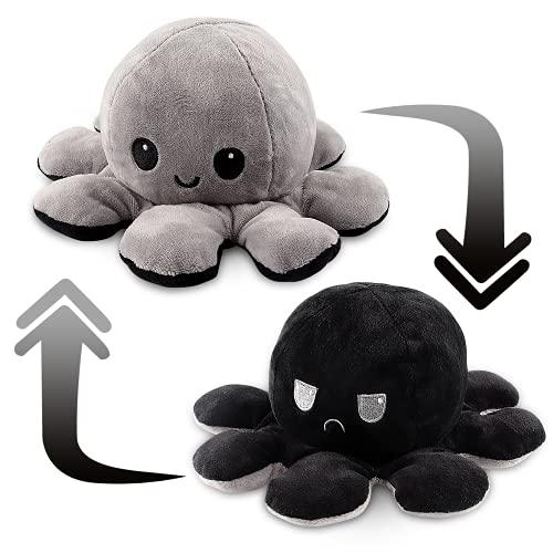 Esportic Oktopus Kuscheltier -Octopus Plüschtiere -Reversible Octopus Plush zum Wenden, Niedliche Doppelseitige Flip Octopus Geschenke,...