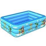 Alueeu Aufblasbarer Pool Spielzeug Tiere, Familienpool, Schwimmbecken Planschbecken, Schwimmbad rechteckig für Kinder, Erwachsene, Babys,...