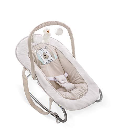 Hauck Bungee Deluxe Babywippe ab Geburt bis 9 kg mit Schaukelfunktion, Spielbogen, verstellbare Rückenlehne, Sicherheitsgurt, Tragegriffe,...