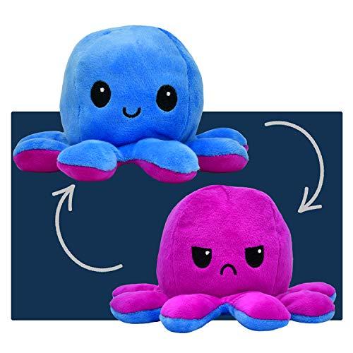 smartpillow Oktopus Kuscheltier - Reversible Octopus Plüschtier - niedliche doppelseitige Flip Octopus Geschenke für Kinder Mädchen...