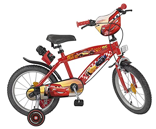 TOIMS Cars Kinderfahrrad für Jungen 40,6 cm rot