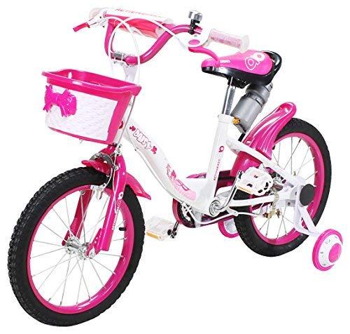 Actionbikes Kinderfahrrad Daisy - 16 Zoll – V-Break Bremse vorne - Stützräder - Luftbereifung - Ab 4-7 Jahren - Jungen & Mädchen –...