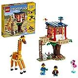 LEGO 31116 Creator 3-in-1 Safari-Baumhaus, Katamaran oder Flugzeug Spielzeug, Bauset mit Löwe Spielzeug