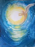 silwi-art***** Engelbild Schutzengelbild Engelkarte XL/Wanddeko limitiert Dein Engel schickt Dir Licht Grußkarte Geschenkidee