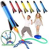 Rakete Spielzeug, Druckluftrakete, Raketentwerfer Outdoor Spiele für Kinder mit 6 Schaumstoff Raketen, Garten Spielzeug, Kinder Garten...