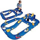 BIG - Waterplay Niagara - Wasserbahn blau, 130 x 90 x 22cm große Bahn, mit 3 Booten, Wasserflugzeug und 4 Spielfiguren, 2 Schleusen und...