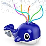 Kiztoys Wassersprinkler für Kinder, Sprinkler Spielzeug mit 6 Schlauch, Wasser Sprinkler Kinder Gartensprinkler in Wal Fun Toy für Kinder...