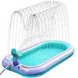 Sprinkler Pad Splash Spielmatte, Kinder Sprinkler Pool Pad Wasser Spielzeug für Kinder im Freien Sommer Garten Aufblasbares...