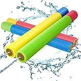 Kiztoys Wasserpistole Spielzeug Kinder Set 4 Stück Pool Wasserspritzpistolen mit Reichweite 35 Feet Sommer Wassersport, Garten und Strand...