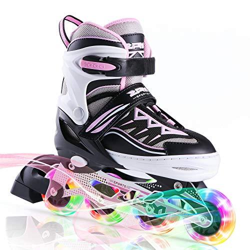 2pm Sports Cytia Inliner für Kinder Verstellbar, Led Inline Skates Mädchen,Rollschuhe leuchten für Damen/Mädchen/Herren