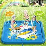 Peradix Splash Pad,170CM Sprinkler Wasser-Spielmatte Anti-Rutsch Splash Play Matte Sommer Outdoor Garten Kinder Spielzeug Sprinklerpool für...