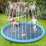 BOIROS Splash Pad wasserspielzeug, 170CM Sprinkler Wasserspielmatte, Splash Play Matte für Baby Party Sprinkler, Outdoor Garten Spielzeug...