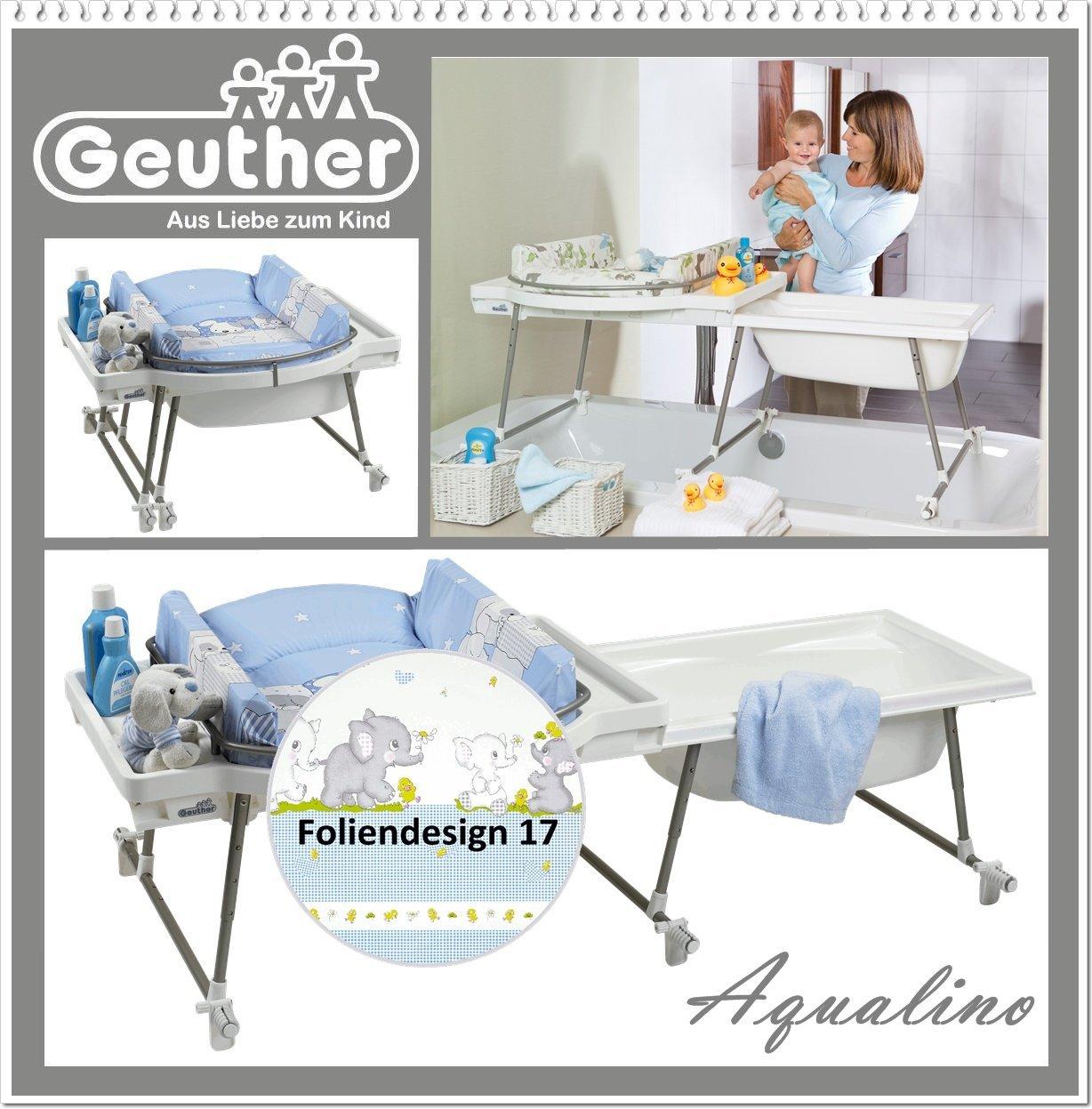 Wickeltisch mit badewanne - Table a langer adaptable sur lit bebe ...