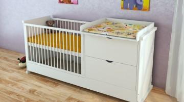 babybett mit wickelkommode. Black Bedroom Furniture Sets. Home Design Ideas
