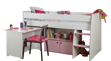 kinderbetten mit schreibtisch platzsparende hochbetten. Black Bedroom Furniture Sets. Home Design Ideas